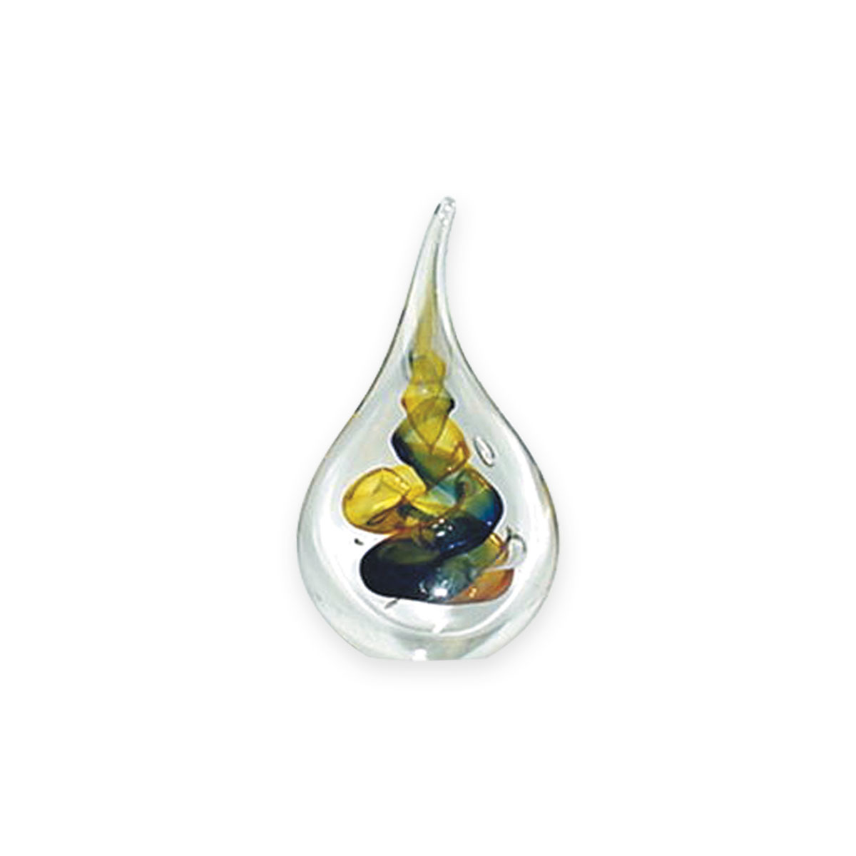 Nobile Paperweight Crystal Blue/Gold