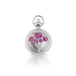 A E Williams Ladies Enamelled Pendant Watch
