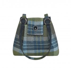 Coastal Blue Ava Tweed Handbag from Earth Squared