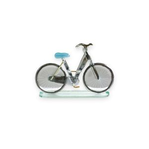 Nobile Fused Glass Bicycle - Blue Large